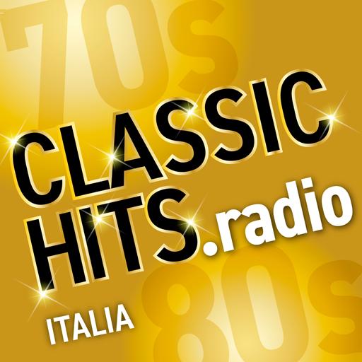 logo della edizione italiana di CLASSIC HITS la radio con SUCCESSI E MUSICA ANNI 70 80 90